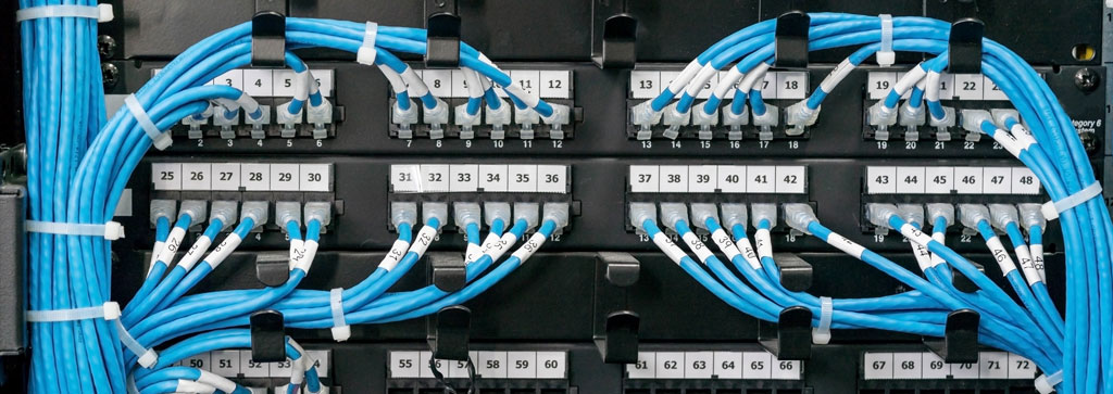 lan cabling patch panels with cords